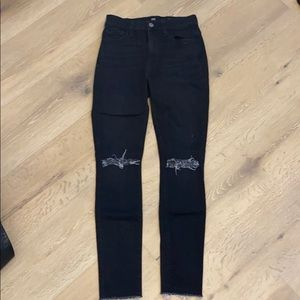 7 for all mankind skinny jeans high waist